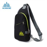 Atacado AONIJIE Unisex Outdoor ombro único ombro Sport Bag peito impermeável Nylon Travel Bag peito Ultralight Running Backpack