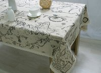 Wholesale New World Cover - 2017 New Arrival Table Cloth World Map High Quality Lace Tablecloth Decorative Elegant Table Cloth Linen Table Cover