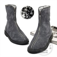 Wholesale Leopard Lined Boots - Thread British Style Botas Square Heel Fur Lined Leopard Nubuck Cotton Padded Warm 2015 New Fashion Boots Korean Version