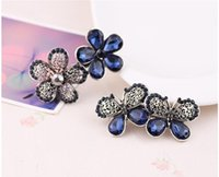 Wholesale Girls Beautiful Hair clips Barrettes with strong clasp Crystal Rhinestones Bows Hairpin Flower Hair Jewelry