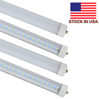 Wholesale fluorescent lights - Stock In US + 8 feet led 8ft single pin t8 FA8 Single Pin LED Tube Lights 45W 4800Lm LED Fluorescent Tube Lamps 85-265V