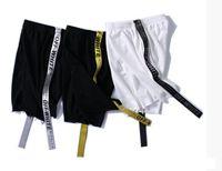 Wholesale Women Jogger Pants Shorts - Off White Shorts palace Ribbon Men women Shorts Hip Hop VIRGIL ABLOH kanye skateboard Jogger boardshorts Short Pants
