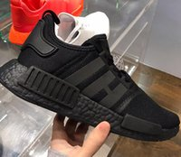 Wholesale Nipple Massage - New NMD Japan Pack Triple White Triple Black Real Boost NMD R1 Primeknit Running Shoes Small nipples Boost