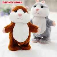Wholesale Hamster Cat - Kawaii Talking Hamster Plush Toys sound record Plush Hamster Stuffed Toy walking hamster for Children Kids High Quality