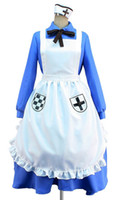 aph cosplay toptan satış-Malidaike Anime Cadılar Bayramı Partisi Elbise APH Mihver devletleri Hetalia Nyotalia İngiltere / İNGILTERE Kadınlar Cosplay Kostüm Elbise