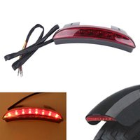 Wholesale Light R Tail - Motorcycle Red LED Tail Brake Rear Light For Harley Sportster 883 1200 L N R XL883 XL1200 48 72 Iron Custom #MB172