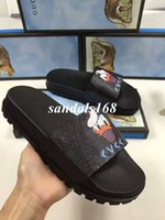 Wholesale Thick Sandals - Hot Sale High Quality Mens Black Donald Duck PU Slippers Fashion 13 Colors Thick Bottom Printing Cartoon Sandals for Men With Free Shipping