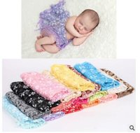 Wholesale Lace Baby Blanket - Lace Wraps for Baby Soft Wrap Blanket Newborn Baby Photography Props Wrap Blanket Lace Flower Wrap Infant Newborn Baby Accessories 43