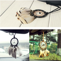 Wholesale Car Money Boxes - 3 Styles Vintage Mini Dreamcatcher Car Hanging Home Decorations Dream Catcher Car Home Hanging with Jingle Bells Best Gifts