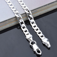 """Wholesale Sterling Silver Link Chains - 4MM 925 Sterling Silver Link Chain Necklace Jewelry Figaro Chain Link 16-24"""" Mix Size DHL FREE SHIPPING"""