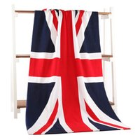 Wholesale Uk Bathrooms - Beach Towels USA flag UK FLAG New Microfiber Bath Towels For Adults Flag Big Printed Beach Towel Drying Toalla Bathroom Accessories