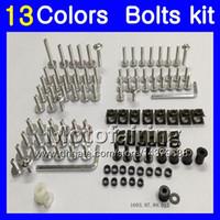 Wholesale zx9r full fairing kit - Fairing bolts full screw kit For KAWASAKI NINJA ZX9R 00 01 02 03 ZX-9R 9 R ZX 9R 2000 2001 2002 2003 Body Nuts screws nut bolt kit 13Colors