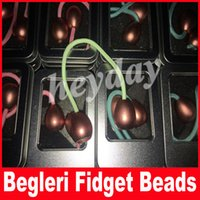Wholesale Fluorescent Beads - Machined Begleri Fidget Beads 3 Color Thumb Chucks Alloy EDC Glow in Dark Fluorescent light ADHD Anti Stress Novelty Toys