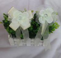 2pcs lot high quality handmade tiffany blue wedding wrist flower purple  bride bridesmaids wrist corsages bridal wrist bouquets 5bbd991462b8