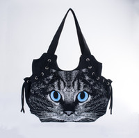 Wholesale Cats Design Phone Bags - Wholesale-2016 new designed women canvas handbag cute cat bag casual fashion all-match shoulder bag travel bag tote for lady bolsos