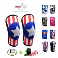 Wholesale Weight Lifting Elbow - Wholesale- RUNTOP 7mm Neoprene Knee Sleeves Crossfit Weight Lifting Powerlifting Fitness Running Knee Pads Support Brace Cap Compression
