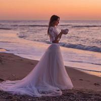Wholesale Cheap Tutu Tops - Tutu Underpart Skirts Tulle Dresses Lace underskirts NOT TOP Chapel Train Cheap Boho Summer Beach Bohemia Bridal Wedding Gowns