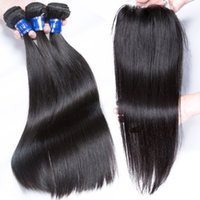 Wholesale Processed Peruvian Hair - BD 2017 Within Large Stock Peruvian Silky Straight Hair With Closure Natural Color Virgin Human Hair Bundles