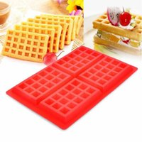 Wholesale Waffle Mold - Waffle Makers for Kids Silicone Cake Mould Waffle Mould Silicone Bakeware Set Nonstick Silicone Baking Mold CCA7931 100pcs