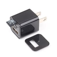 Wholesale Charge Recording Usb Spy - HD 1080 USB Charger Spy Camera DVR US EU AC Adapter Plug Camera Mini DV Hidden Video Recording While Charging Support TF Card M1S