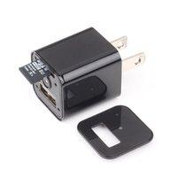 Wholesale Mini Dv Plug - HD 1080 USB Charger Spy Camera DVR US EU AC Adapter Plug Camera Mini DV Hidden Video Recording While Charging Support TF Card M1S