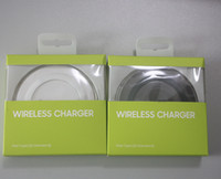 Wholesale retail gift packaging - Gift Universal Qi Wireless Charger fast Charging For Samsung Note Galaxy S6 s7 Edge mobile pad with logo with retail package