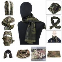 Wholesale wholesale mesh wraps - 21 Styls Tactical Military Camouflage Scarf Cool Airsoft Tactical Multifunctional Army Mesh Breathable Scarf Wrap Mask YYA439