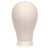 """Wholesale Manequin Heads - 21-24"""" Cork Canvas Block Head Manequin Head Wig Display Styling Head With Mount Hole And Free Table Clamp Stand"""