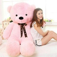 Wholesale valentines stuffed teddy bear - Wholesale- [110cm 5 Color] giant teddy bear stuffed plush toys valentine gift Factory Price CA020