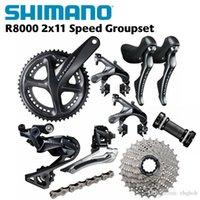bisiklet grubu seti toptan satış-Shimano Ultegra R8000 50/34 T 53/59 T 165/170 / 172.5 / 175mm 2 * 11 22 Hız yol bisikleti bisiklet groupset Bisiklet Parçaları UT CX