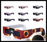 Wholesale New Paper Solar Eclipse Glasses Safe Solar Viewing Protect Your Eyes safely view the solar on August th OPP bag package