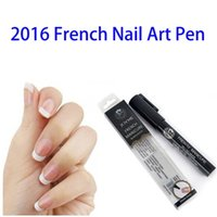 Wholesale Wholesale Paint Equipment - Wholesale-Nail Art Pens Hot French Manicure Nail Polish Pen High Quality Nails Art Tools DIY Decoration Beauty Painting Design Equipment