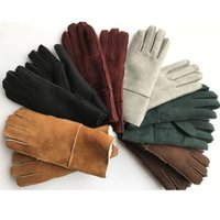 Wholesale Couple Gloves - Couple style fur gloves ,Women's Genuine Sheepskin Gloves Pure Natural Wool and Sheepskin Warm Men Winter Gloves