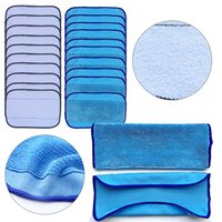 Wholesale Reusable Mop Pads - 20pcs 10 Wet +10 Dry Washable Reusable Replacement Mopping Cloths cleaning cloth cleaning pad
