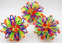 Wholesale Magic Flower Ball - 2016 new New expanding sphere mini ball kids toy rainbow Colorful flower magic ball lay in children's toys 15cm*28cm 5pcs lot