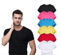 yeni marka stilleri gömlek oğlan toptan satış-2018 yeni Yüksek kaliteli pamuk Büyük küçük At timsah O-Boyun kısa kollu t-shirt marka erkekler için T-Shirt rahat tarzı spor erkekler T-Shirt