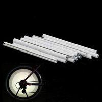Wholesale Led Strip Bicycle - 12Pcs Bicycle Mountain Bike Riding Wheel Rim Spoke Mount Clip Tube Warning Light Strip Reflector Reflective Outdoor White 75mm