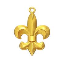 Wholesale Cheap Men Bracelets Crosses - Fleur De Lis Rhodium  Gold Plated Religious Design Charm DIY Necklace&Bracelet Jewelry For Men&Women Cheap Sale 5pcs