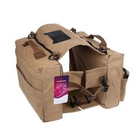 Wholesale Dog Hiking Bag - Lalawow Cotton Canvas Dog Pack Hound Travel Camping Hiking Backpack Saddle Bag Rucksack for Medium & Large Dog