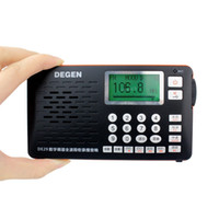 Wholesale Tf Playback - Wholesale-Degen DE29 FM Radio Digital Tuning Full Band Card Receiver Campus Radio Broadcasting Support U Disk TF Direct Playback Y4217A