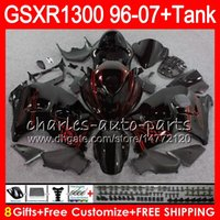Wholesale Hayabusa Red - 8Gifts 23Colors For SUZUKI Hayabusa GSXR1300 96 07 2002 2003 2004 red flames 15NO74 GSX R1300 GSXR-1300 GSXR 1300 2005 2006 2007 Fairing