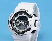 Wholesale Pointer Quartz - AAA Good Quality luxury brand watch men G All pointer work GA400 Men sports watches LED light watch famous digital shock watches with Box
