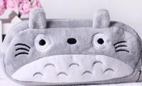 Wholesale Totoro Wallet Wholesale - Wholesale- 6PCS My Neighbour Totoro Plush Pen Pencil BAG Pouch Case Packs ; Pendant Cosmetic & Beauty Pouch Bag Case Coin Purse Wallet BAG