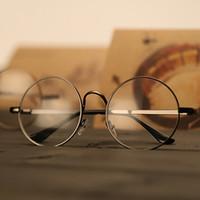 Wholesale Prince Frames - Spectacle Frame Harajuku Retro Shell Plain Round Metallic Glasses Frames Prince Mirror Harry Potter Style Fram Eye Dress Up 7 6gd H1