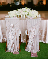 Wholesale orange chair covers for weddings for sale - Group buy 30D Chiffon Chair Sash For Weddding Covers Custom Made On Sale Wedding Suppliers Chair Covers Accessories