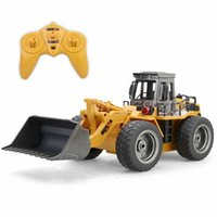 Wholesale Alloy Construction - Huina RC Truck 6CH Alloy Bulldozer RC Simulation Pushdozer Engineering Forlift Construction Model With Light Toys