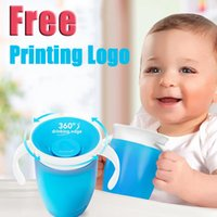 Wholesale Grow Hand - 360 Baby Kids Trainer Cup Cute double handle Drinking-mult colors Sassy Spoutless Grow Up Cup