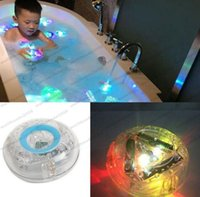 Wholesale Bathroom Fun - 2017 hot KIDS BATH LIGHT SHOW COLOUR LED LIGHT TOY PARTY IN THE TUB BATH TIME FUN GIFT kids bathroom accessories MYY