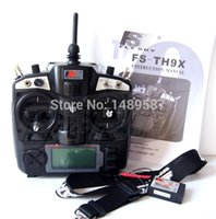 Wholesale Tx Rc Remote - Wholesale- FlySky FS TH9X FS-TH9X FS-TH9X-B FS-TH9B 2.4G 9CH Radio Set System ( TX FS-TH9X + RX FS-R9B FS-R8B) RC 9CH Transmitter +Receiver