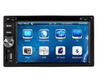 Wholesale Car Stereo X Trail - In Dash Car DVD Player GPS Navigation for Nissan Tiida Qashqai Sunny X-Trail Murano Frontier with Radio BT USB SD Audio Video